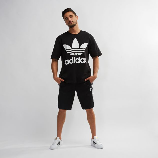 2b7754ed Shop Black adidas Originals Adicolor Oversized Trefoil T-Shirt for ...