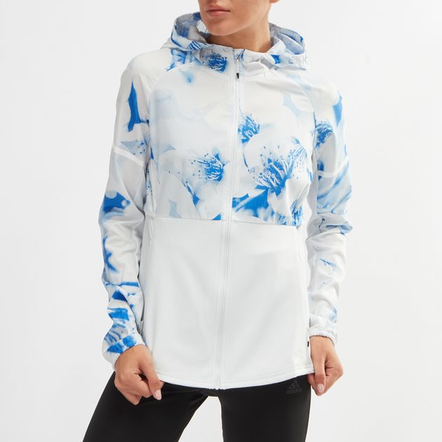 95c4557a1258c Shop White adidas Ultra Graphic Running Jacket for Womens by adidas ...