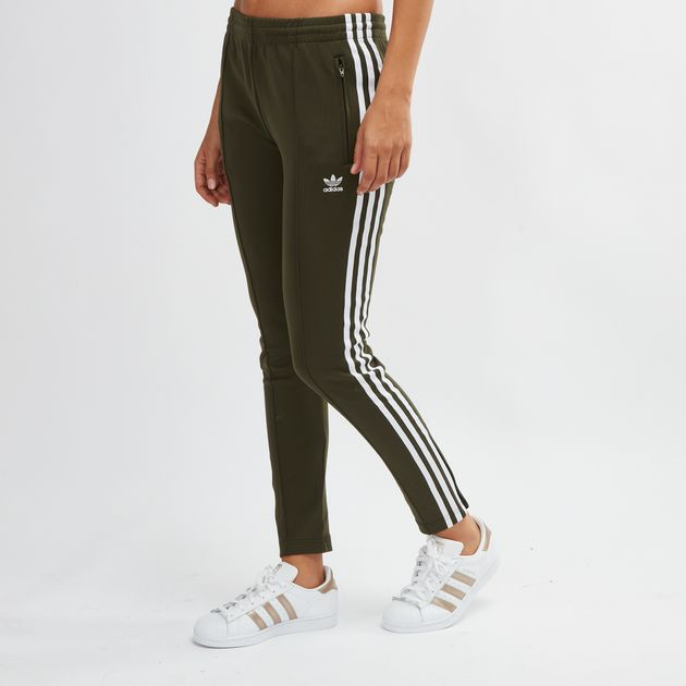 8b01ece4a4e1 Green adidas Originals SST Track Pants