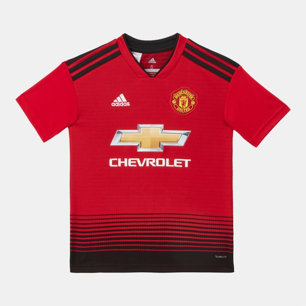 adidas Kids' Manchester United Home Football Jersey – 2018