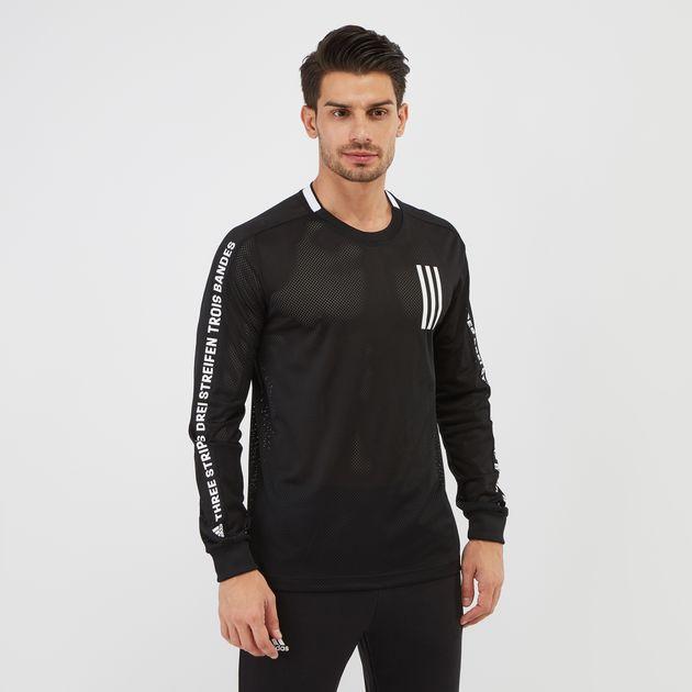 adidas Sport ID 3-Stripes Long Sleeve T-Shirt