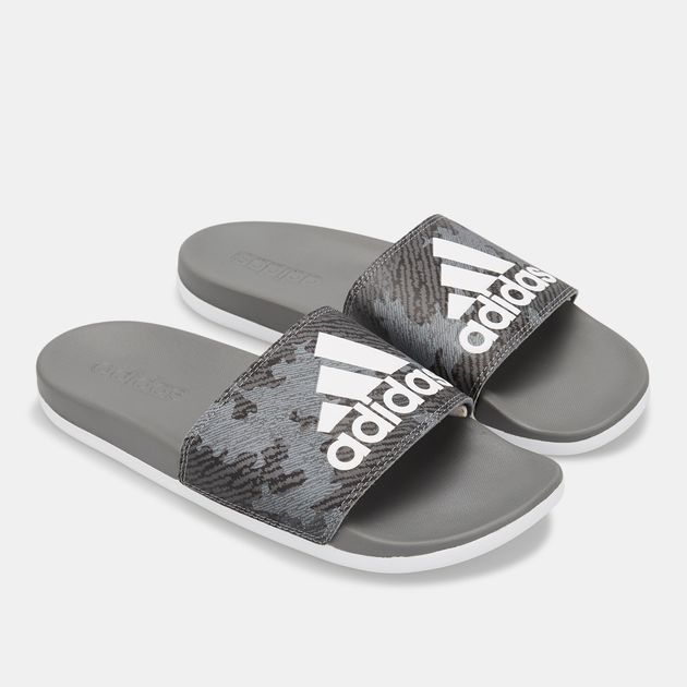 0408498d7f3b2 adidas Men s Adilette Cloudfoam Plus Logo Slides