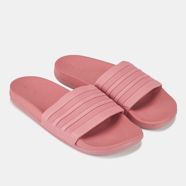 71c1e4599f450f Shop Red adidas Adilette Cloudfoam Plus Stripes Slides