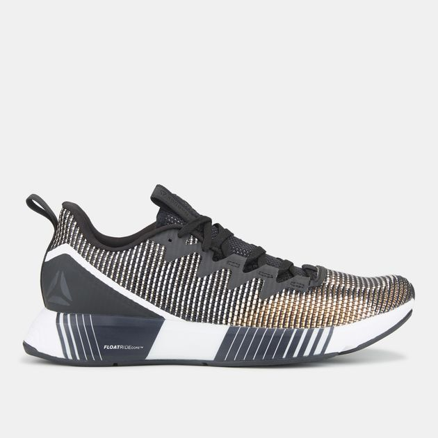 288e2a85d83192 Shop Black Reebok Fusion Flexweave Shoe