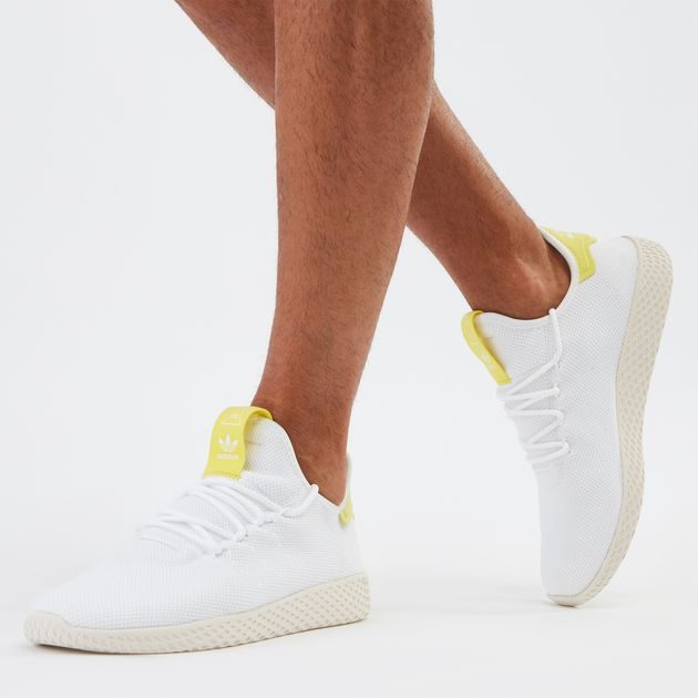 41aca4fdf Beige adidas Originals Pharrell Williams Tennis Hu Shoe