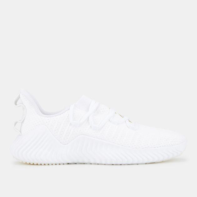 1dcbb6f4e Shop White adidas Alphabounce Trainer Shoe
