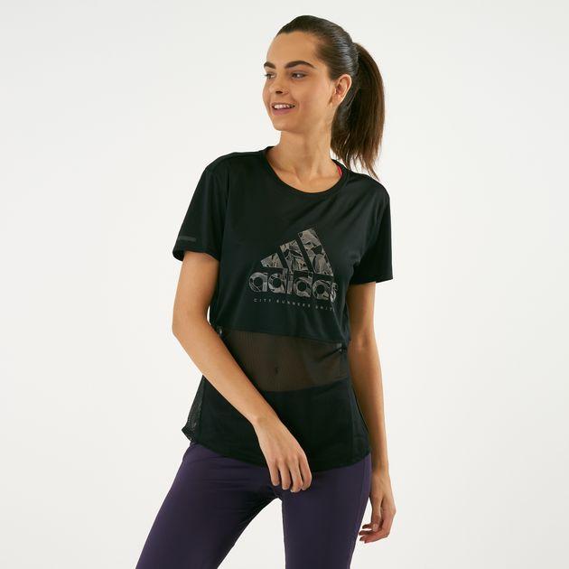 a4f4a7de102 adidas Women's Own The Run Paper Floral T-Shirt | T-Shirts | Tops ...