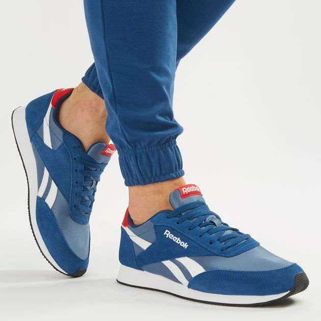 Shop Blue Reebok Royal Classic Jogger 2 Shoe  bc3dbe5be