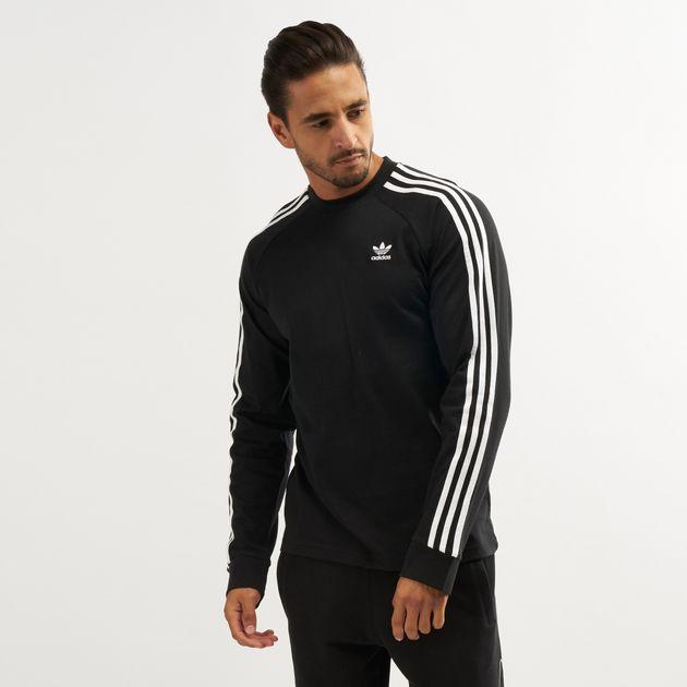 9f3a6391f6 adidas Originals Men's 3-Stripes Long Sleeved T-Shirt | T-Shirts ...