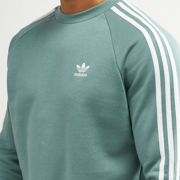 adidas originals stripes crew sweatshirt