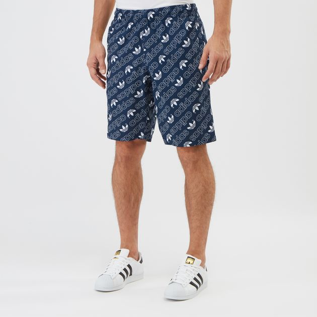 e11c4fd791 Shop Blue adidas Originals Monogram Swimming Shorts | Swimming ...