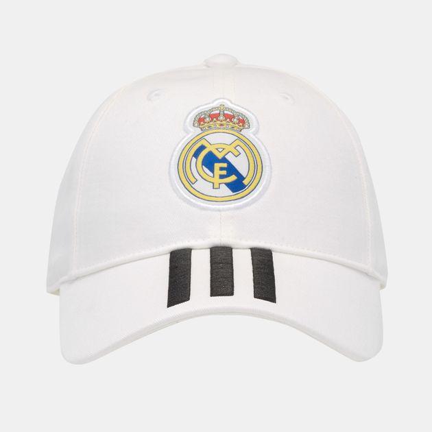 533c948fa76 Shop White adidas Real Madrid Three-Stripes Cap