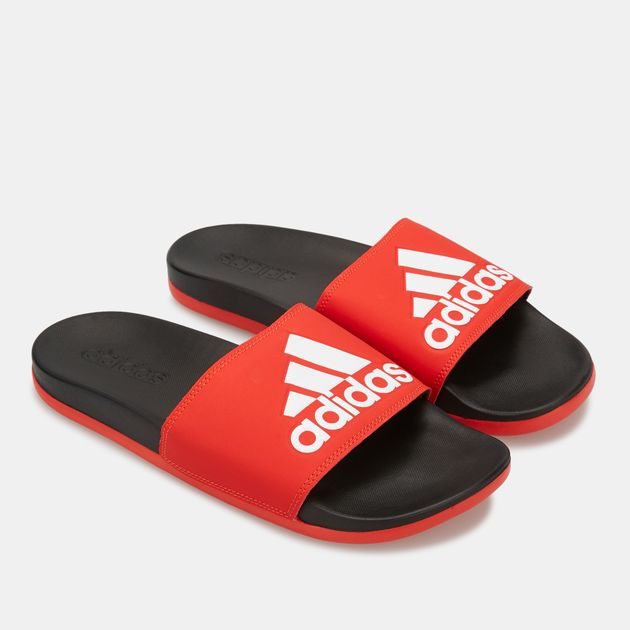 30f54bf6 adidas Men's Adilette Cloudfoam Plus Logo Slides