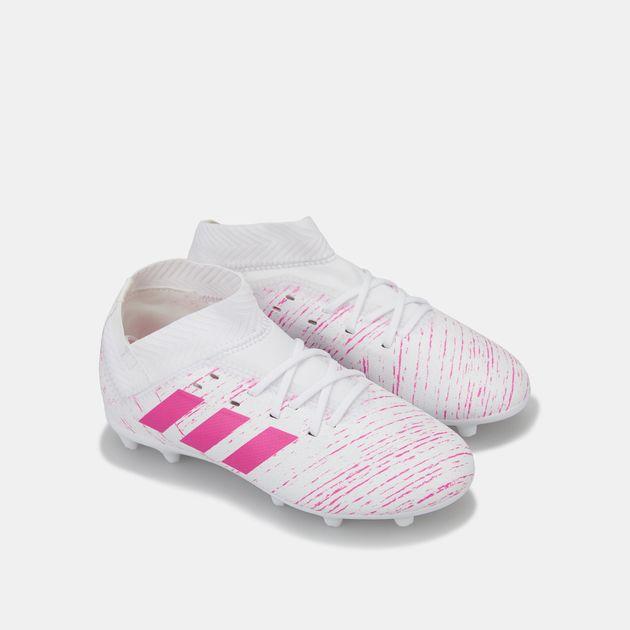 229057974 حذاء كرة القدم نميزيز 18.3 (تشكيلة فيرتوسو) لملاعب العشب الطبيعي من اديداس  للاطفال,