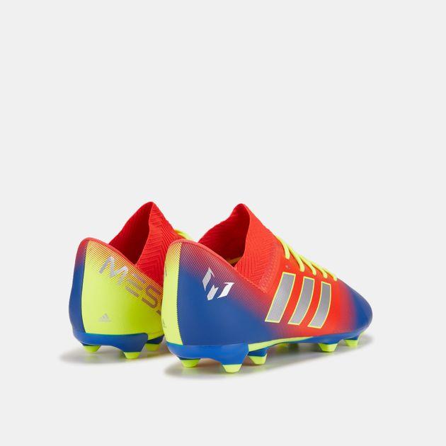 a8c6f1fe8 adidas Kids' Initiator Pack Nemeziz Messi 18.3 Firm Ground Football Shoe,  1458794