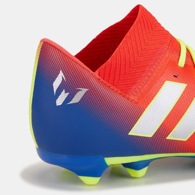 a0c1b792c adidas Kids' Initiator Pack Nemeziz Messi 18.3 Firm Ground Football Shoe,  1458796