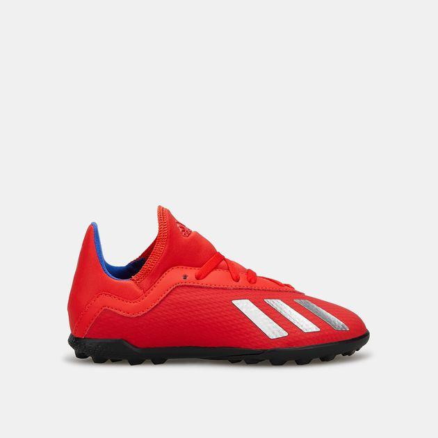 big sale 859e9 9641f adidas Kids' Exhibit Pack X Tango 18.3 Turf Football Shoe ...