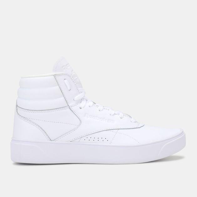 Shop White Reebok Classic Freestyle Hi Nova Shoe  f64d03b9e