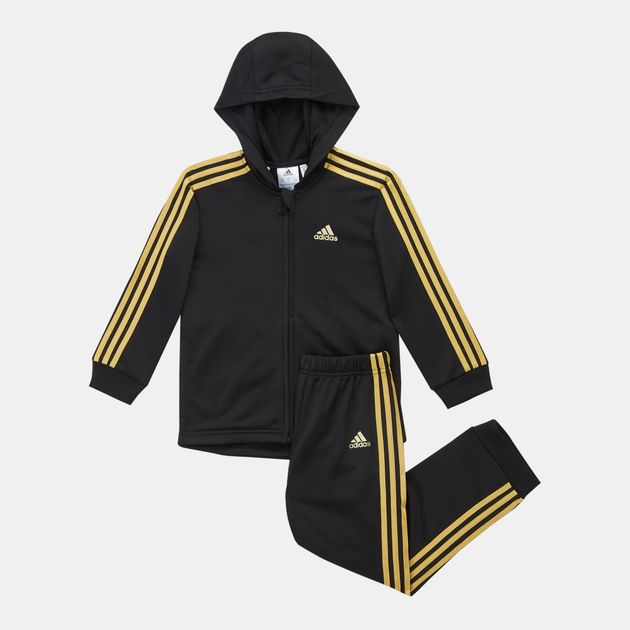 adidas Kids' Shiny Hooded Jogger (Set)