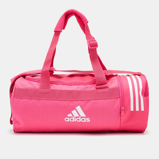 adidas Convertible 3-Stripes Duffel Bag - Small - Pink 0c705f71227f7