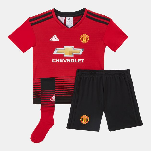 adidas Kids' Manchester United Home Football Mini Kit – 2018