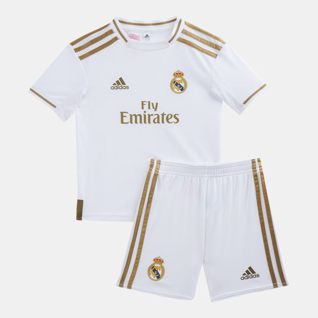 cheap for discount b6da6 d1943 adidas Kids' Real Madrid Home Mini Kit (Younger Kids) -2019/20