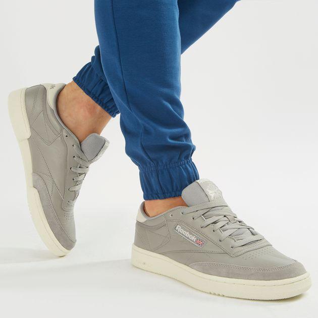 Shop Grey Reebok Classic Club C 85 MU Shoe  759f83d8e