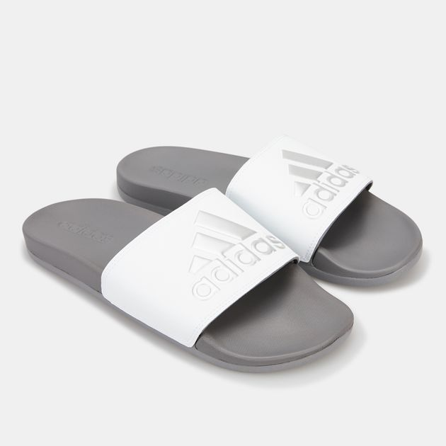 fd0e3c271 Adidas Men's Adilette Cloudfoam Plus Logo Slides | Slides | Sandals ...