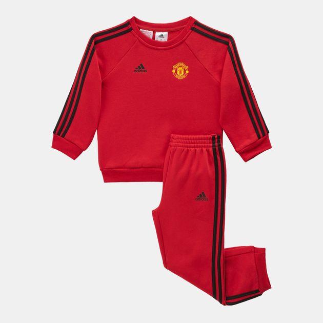 United adidas Manchester 1283122 Tracksuit FC Stripes 3 Jogger Kids' qzFzwA