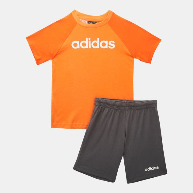 e95352c6da adidas Kids' Linear Summer Set (Baby and Toddler)   Clothing ...