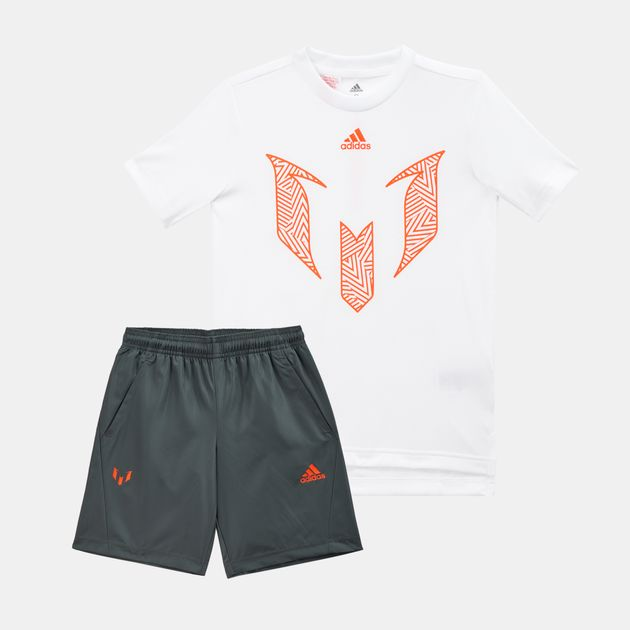 f1a153c7 adidas Kids' Messi T-Shirt and Shorts Football Summer Set (Older Kids)