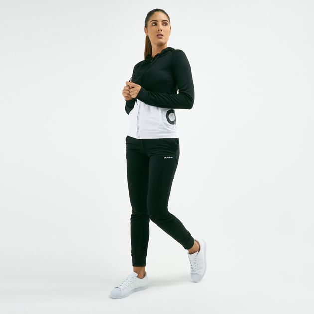 15c30e5c4 adidas Women's WTS LIN FT Tracksuit Hoodie | Tracksuits | Clothing ...