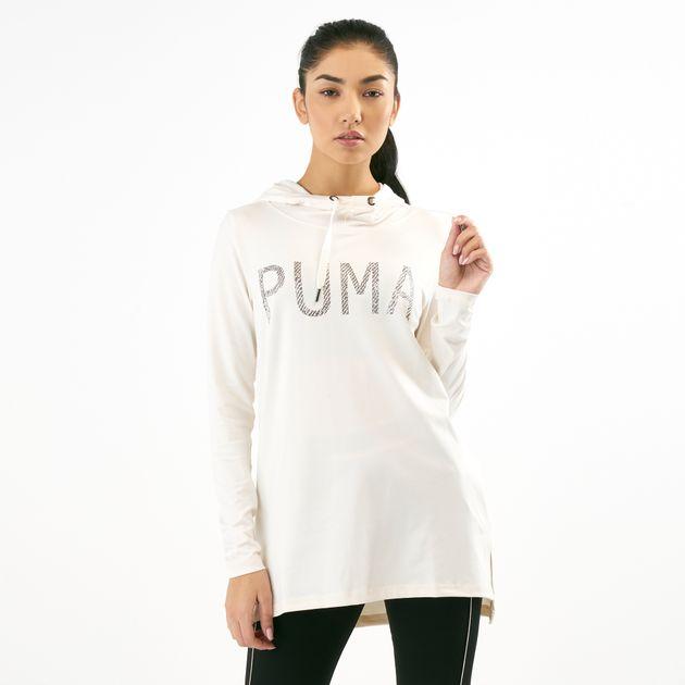 b214dbf5c13a PUMA Women's Holiday Coverup Long Sleeve Top   Hoodies   Hoodies and ...