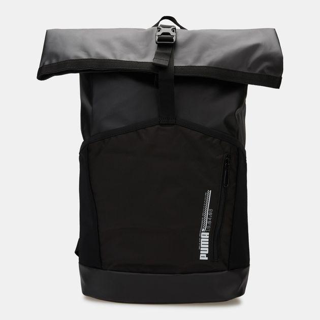 PUMA Men s Energy Rolltop Backpack - Black 4acd5ba1f357f