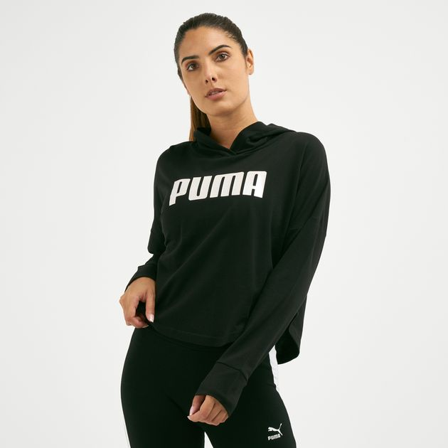 15d2536f7cf PUMA Women's Summer Cropped Light Hoodie | Hoodies | Hoodies and ...