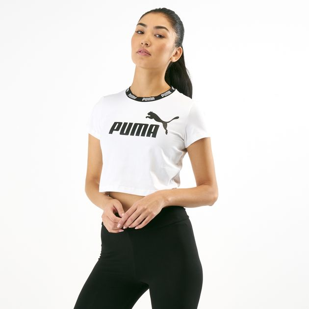 ee4ff7730c0 PUMA Women's Amplified Cropped T-Shirt   Tank Tops   Tops   Clothing ...