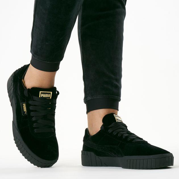 puma black velvet shoes