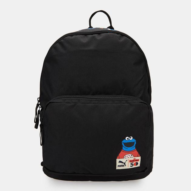 7859d920f76177 PUMA Kids  x Sesame Street Sport Backpack (Older Kids) - Black