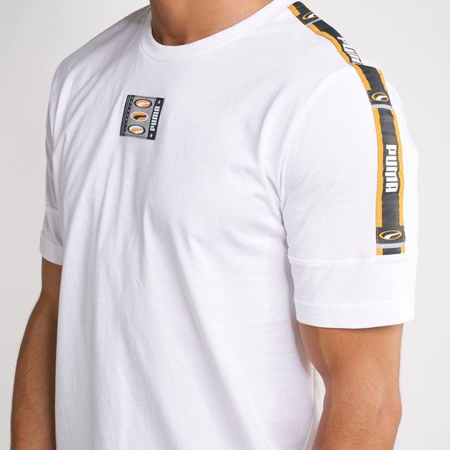 e96840372100d PUMA Men's 90s Retro Tape T-Shirt