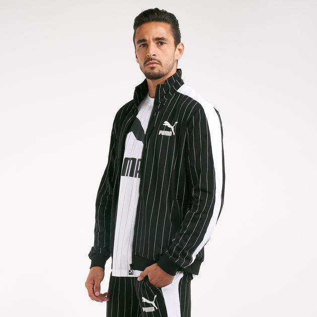 354a3c278f786 PUMA Men's Pinstripe T7 Track Jacket