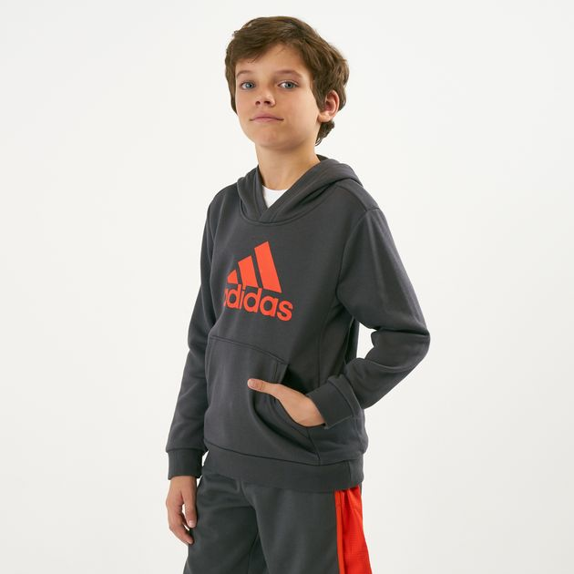 b5b96206033 adidas Kids' Must Haves Badge of Sports Pullover Hoodie (Younger Kids),  1593751