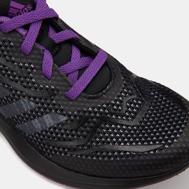 f9f40620 adidas Kids' Marvel Black Panther RapidaRun Shoe (Younger Kids)