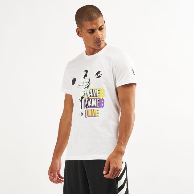 0b226d3a Adidas Men's Dame 5 Logo T-Shirt   T-Shirts   Tops   Clothing   Mens ...
