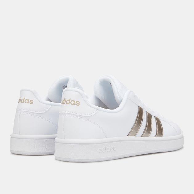 Cheap Sale Adidas Originals Grand Court White Womens Shoes