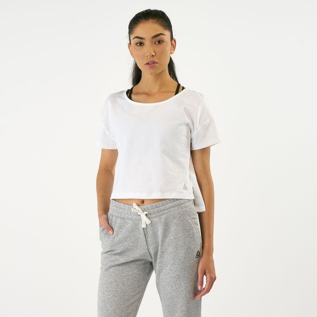 b6272da5415f07 Reebok Women s CBT Perforated Cotton Crop Top