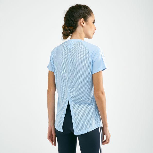 e12187c48de79 adidas Women's Design 2 Move 3-Stripes T-Shirt