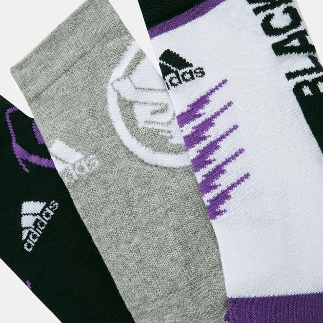 39434583 adidas Kids' Marvel Black Panther Socks - 3 Pairs (Younger Kids)