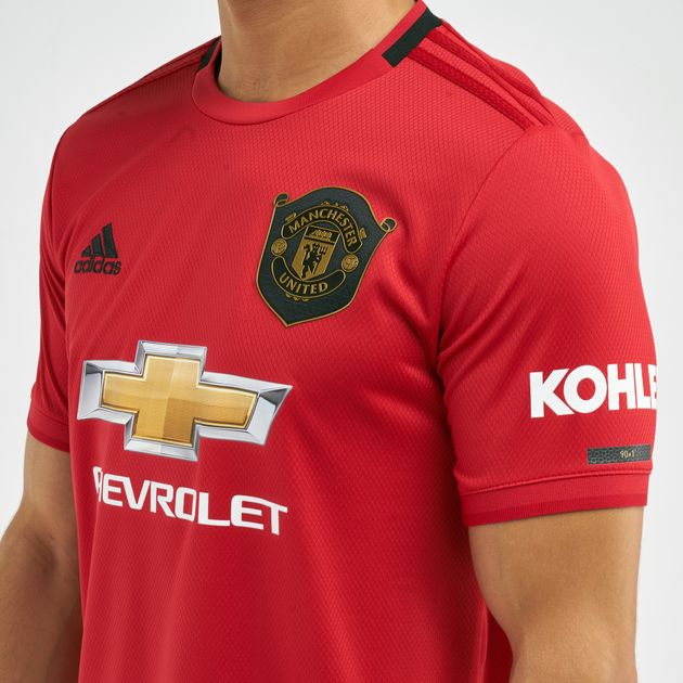 check out 9eb5b c5895 adidas Men's Manchester United FC Home Football Jersey - 2019/20