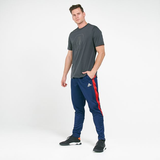 Asistente O después Negociar  Adidas Black Tan Tape Clubhouse Track Pants