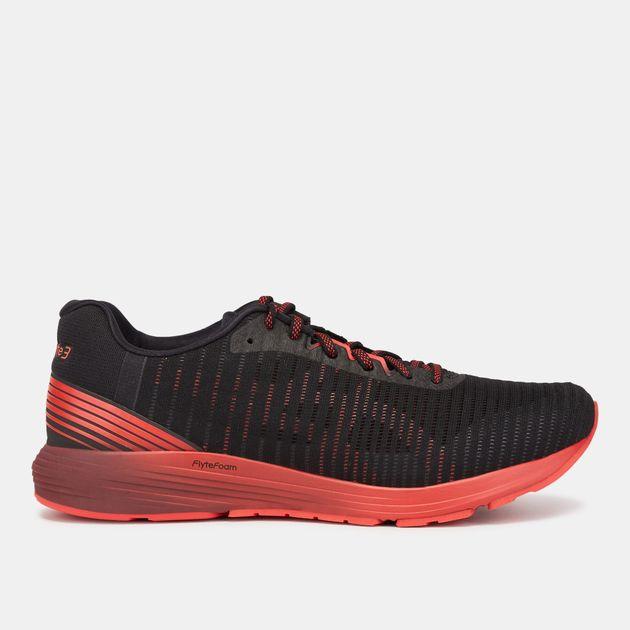 premium selection 6e503 2647c Shop Black Asics DynaFlyte 3 Shoe | Road Running | Running ...